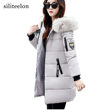 2017 Warm Slim Winter Coat  Fur Collar women Parka  Hooded Winter jacket Styles Fashion Wadded Jacket Women Thick Overcoat