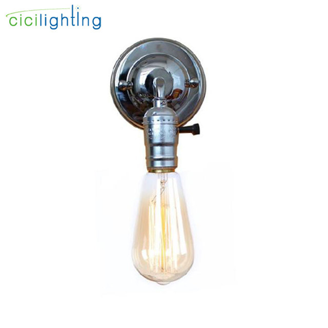 Us 3 99 Mini American Europe Country Wall Lamps Lights Retro Vintage Edison Home Silver Chrome Switch Promotion Cicilighting In From