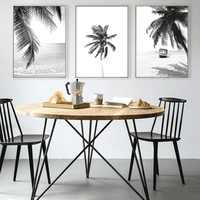 Nordic Home Decoration Minimalist Black White Palm Tree Leaves Canvas Posters and Prints Painting Wall Art Decorative Pictures
