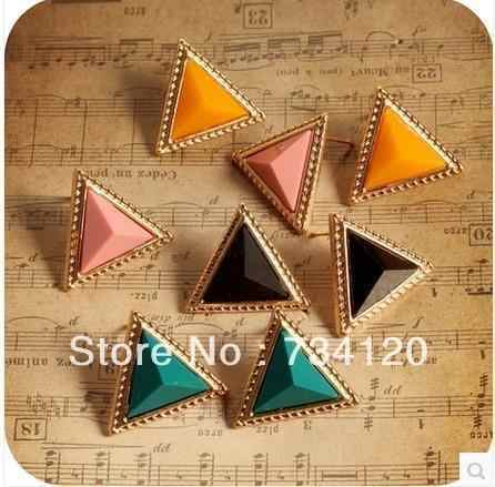 ES164 Hot Sales  Jewellery Wholesale resin Triangle stud gift for women girl earrings