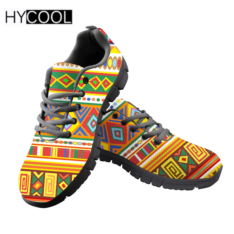 US $24.0 52% OFF|HYCOOL Women Running Shoes Cool African Design Sport Shoes Cute Vintage Sneakers For Teenage Girls Zapatillas Mujer