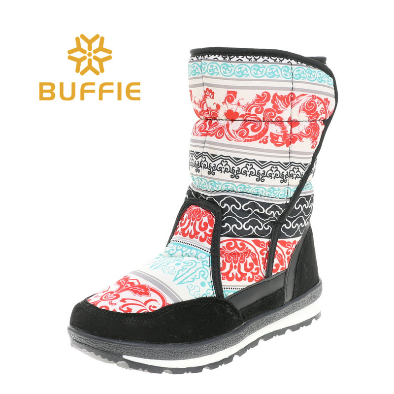 Winer warm snow boots discount 11.11 BUFFIE STORE promotion BIG size whole size range girl boots red colour free shipping black big promotion 100