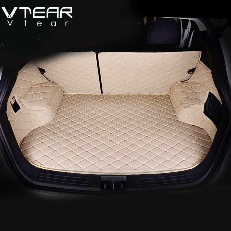 Vtear For Hyundai ix25 Creta Cargo Liner car trunk mat carpet interior Floor Mats leather pad car-styling products accessory 3d trunk mat for peugeot 508 waterproof car protector carpet auto floor mats keep clean interior accessories
