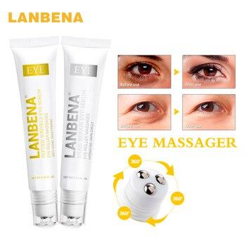 LANBENA péptido Anti envejecimiento suero ojo + Caracol reparación ojo crema Anti-arrugas círculo oscuro Anti-hinchazón de la piel cuidado Dental 2 piezas