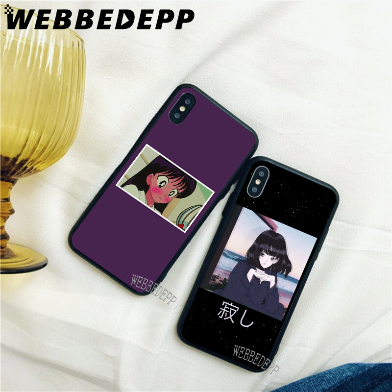 WEBBEDEPP Aesthetic Anime Soft Case for iPhone 5 5S 6 6S 7 8 Plus X XS 11 Pro MAX XR Cover in Fitted Cases from Cellphones Telecommunications