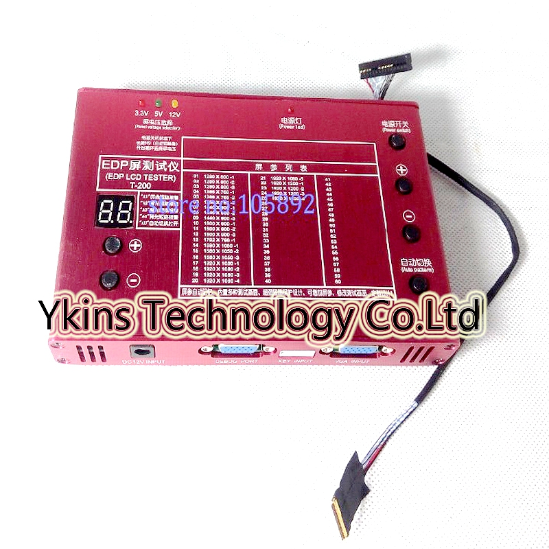 Livraison LCD EDP panneau outil de test universel EDP signal test LCD panneau testeur kit outil 10-27 pouce + 30 broches EDP écran test câble