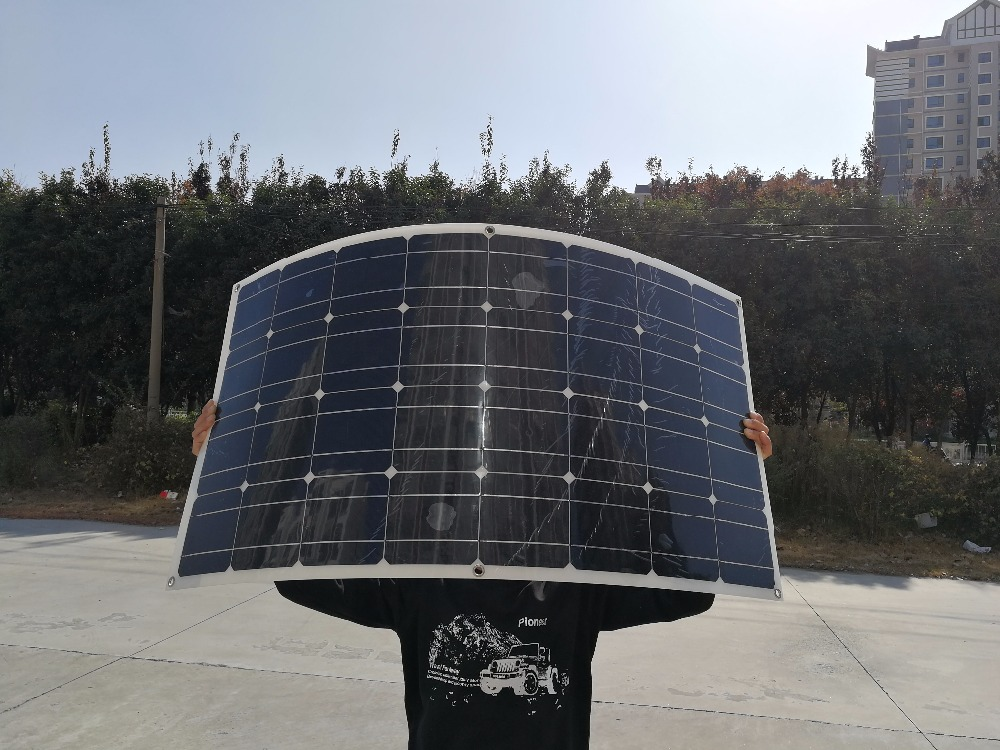 Solar Panel 200w Pole Mounting System High Efficiency