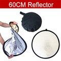 Número de pista + 60 cm de Estudio Fotografía Reflector de oro y plata de doble cara tablero suave cámara fotografía reflectores