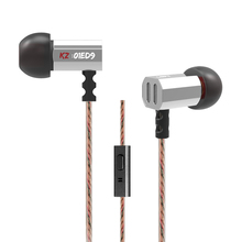 Newest KZ ED9 In-ear Earphone Noise Canceling HiFi Bass Earbuds Super Bowl Tuning Nozzles Earphones With Microphone Audifonos