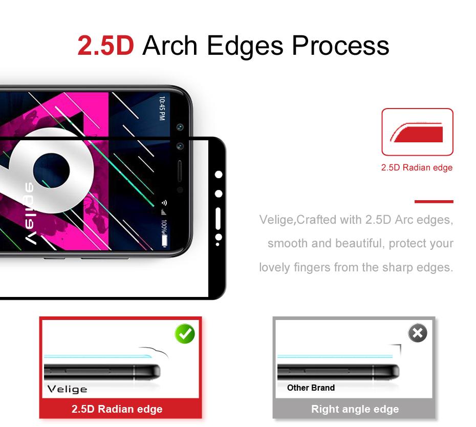 Velige 2.5D Full Cover Tempered Glass for Huawei Honor 9 Lite Honor9 Lite Screen Protector Ultra Thin Safety Glass Film (8)
