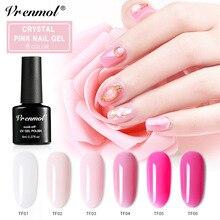 Vrenmol 8 мл французский розовый цвет лак для ногтей УФ-гель для дизайна ногтей Гибридный гвоздь Краска Лак светодиодный сушилка лампа нужна верхнее Базовое покрытие праймер