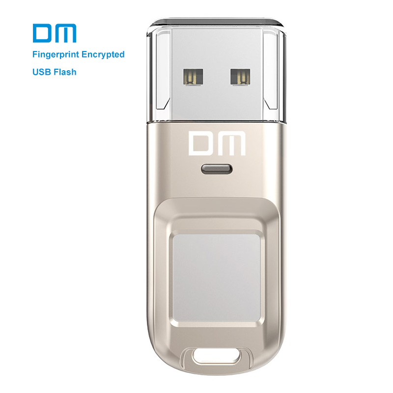 Free shipping DM PD065 High-speed Recognition Fingerprint Encrypted Pen Drive Security Memory USB Stick