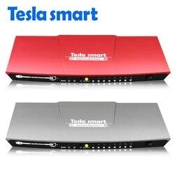 Tesla smart 2 input 8 output HDMI переключатель сплиттер 2x8 с ИК-пультом дистанционного двойного дисплея  до 4 K (3840*2160) 1080 P 3D, серый, красный
