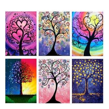 5D DIY diamant schilderen boom kruissteek kleurrijke droom boom volledige ronde diamant borduurwerk strass woondecoratie