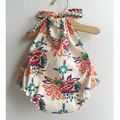2016 nuevo llegado boutique del bebé de los mamelucos recién nacidos de los bebés ropa vintage floral impreso Ropa de Bebé Recién Nacido Conjunto para 0-2years