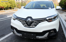 Bright Style For Renault Kadjar 2016 2017 ABS Front Grille Grill Streamer Cover Trim 7 Pcs