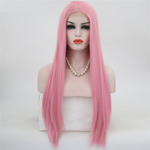 JOY&BEAUTY 15 Styles Synthetic Naturally Smooth Long Straight Lace Front Wig Hig