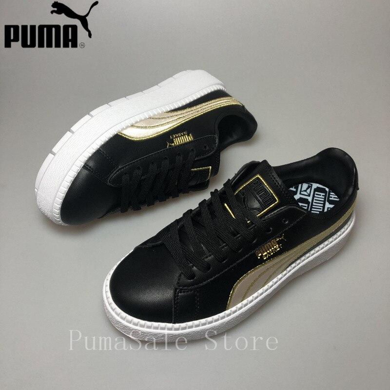 f73c49d3ae4 PUMA Women s Platform Trace Varsity Women s Sneaker Rihanna 4 Generation  Black And White Basket 367728 01 Women Shoes 35.5 39-in Badminton Shoes  from Sports ...