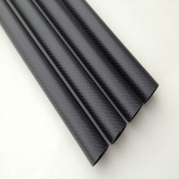 3K Carbon Fiber Tube Twill Light 14X16X1000MM Hot Sale