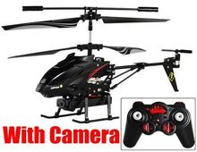 Cheapest WLtoys S977 3.5 Channel Alloy Video Shooting RC Helicopter with camera Aircraft (With Camera)