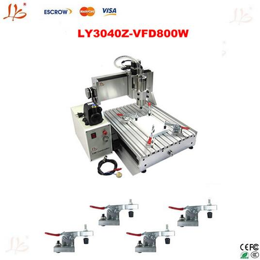 CNC router 3040Z-VFD800W engraving machine,Assembled & tested well woodworking cutting machine +cnc frame 4axis cnc router 3040z vfd800w engraving machine cnc carving machine cnc frame assembled