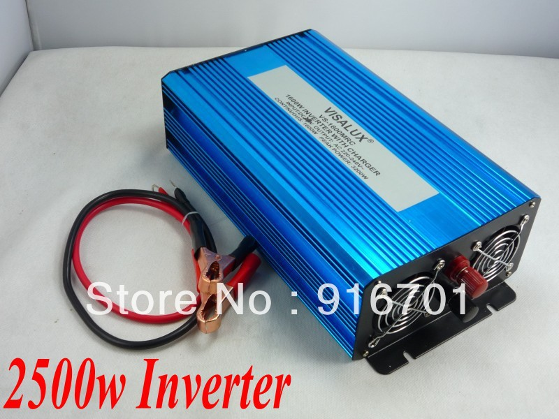 Fedex DHL UPS Free Shipping, 2500W pure sine wave inverter 12V DC TO 220V AC Pure Sine Wave Power Inverter,5000w Peak inverter dhl fedex free shipping home ups inverter 3000w peak 6000w dc12v to ac220v inverter 20amp charger