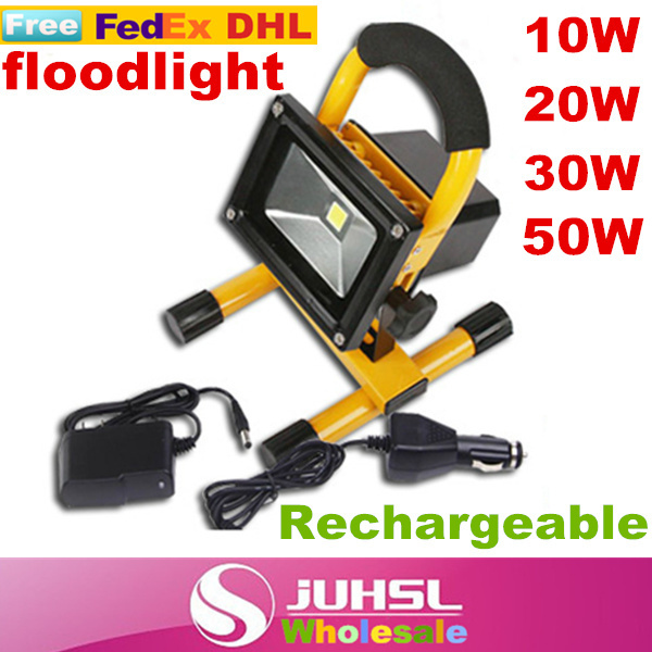 Emergency LED Spotlights, floodlights, camping, party,car, fishing, portable rechargeable lights 5W10W20W30W50W,With charger,A factory direct sales of new 5wled emergency lights power failure emergency lights to stop the use of portable easy to use