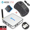 S912 KB2 Android 6.0 Receptor de TV 1080 P Amlogic Quad-Core 2G/32G Apoio 4 K H.265 DLNA Miracast Smart Tv Set Top Box + I8 Keyboard