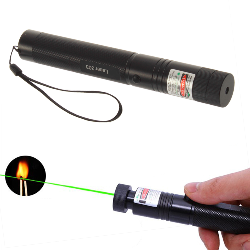 1pc Powerful SD Laser303 Adjustable Focus 532nm Green Laser Pointer Light Output power less than 1mw no battery