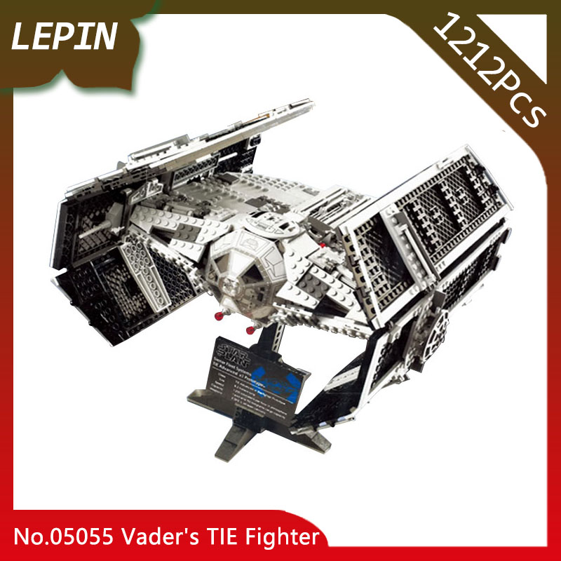 Lepin 05055 The Rogue One USC Vader TIE Advanced Fighter Set 10175 Star Series Wars 1212pcs Building Blocks Bricks Educational lepin 05055 star 1212pcs the rogue one usc vader tie advanced fighter set 10175 building blocks bricks educational war for kids