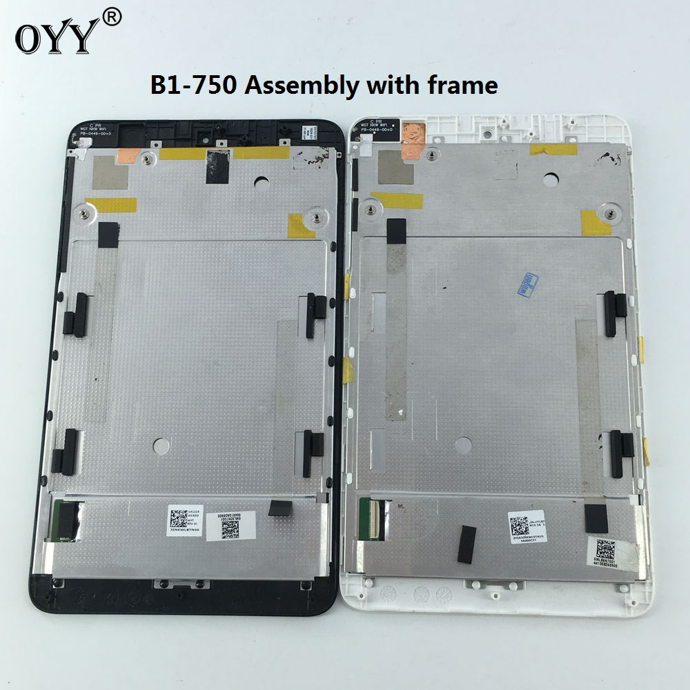 LCD Display Panel Screen Monitor Touch Screen Digitizer Glass Assembly with frame For Acer Iconia one 7 B1 750 B1-750 for acer iconia one 7 b1 750 b1 750 black white touch screen panel digitizer sensor lcd display panel monitor moudle assembly