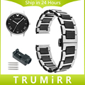 18mm 20mm 22mm Ceramic + Stainless Steel Watch Band for Armani AR Men Women Butterfly Clasp Strap Link Bracelet Black Gold White
