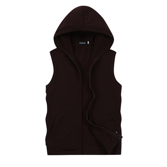 2017 New Hot High quality Brand New fashion cotton vest Men's Vest hooded coat NO.292 P30