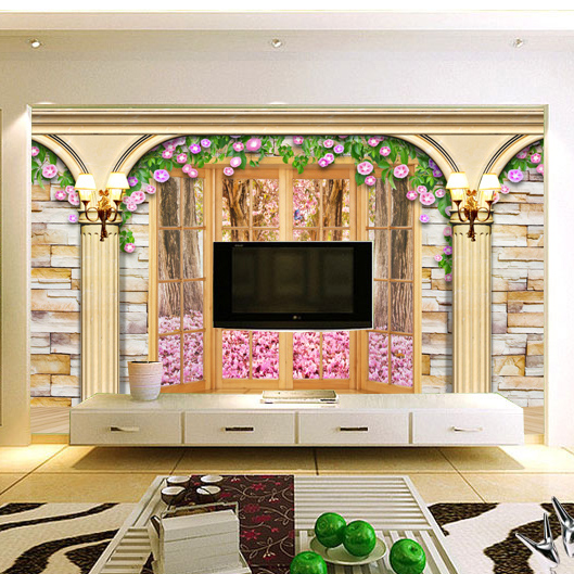 Nice 3d Wallpaper Roman Stereo Simply European Style For Bedroom Living Room  Sofa TV Background Wall Paper