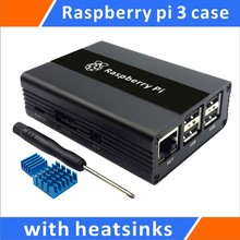 Cheaper Raspberry Pi 3 Aluminum Case With Heatsinks Compatible with Raspberry 2/B+(Black)