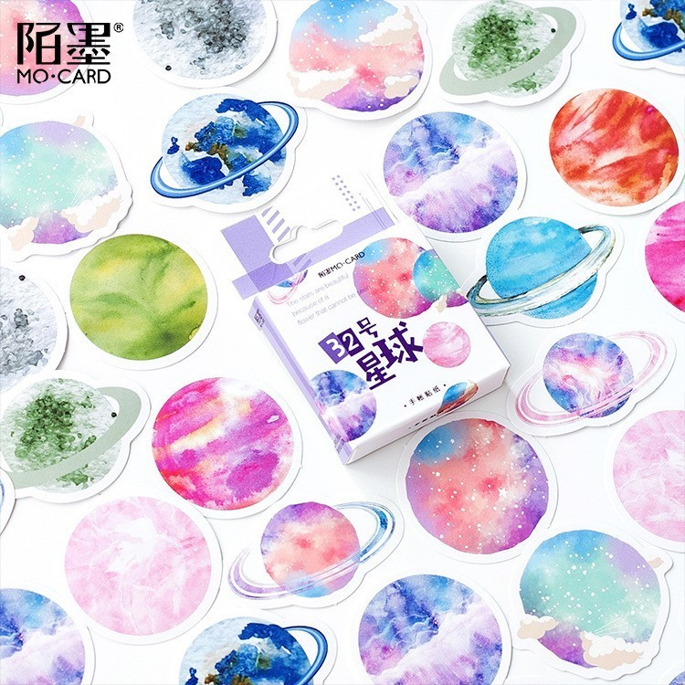 45PCS/box New Creative Planet 32 Paper Lable Sealing Stickers Crafts Scrapbooking Decorative Lifelog DIY Stationery Sticker