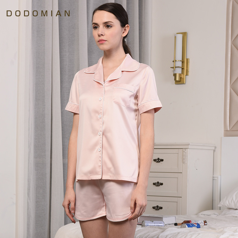 Summer Pajamas Sets for Couples Silk 1 Sets T shirts+Shorts Men PJS  Homewear Casual Pyjama Women Solid Short Sleeve Nightwear-in Men s Pajama  Sets from ... 159dc640a
