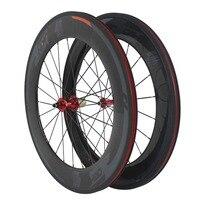ORGE OG WH088 Gary And Orange Color Clincher 700C 88mm Size 20 24 Spokes Carbon Wheelset