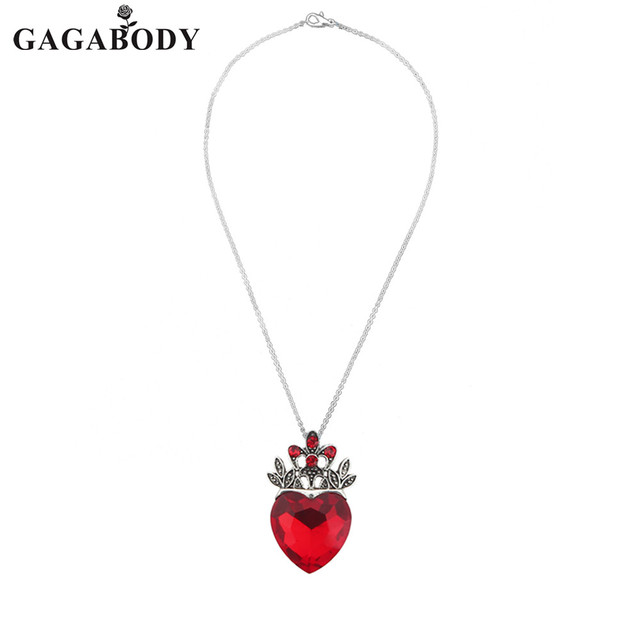 Valentine\u0027s Day Evie Necklace Descendants Red Heart Crown Necklace Queen  Of Hearts Costume Fan Jewelry Pre Teen Gift For Her