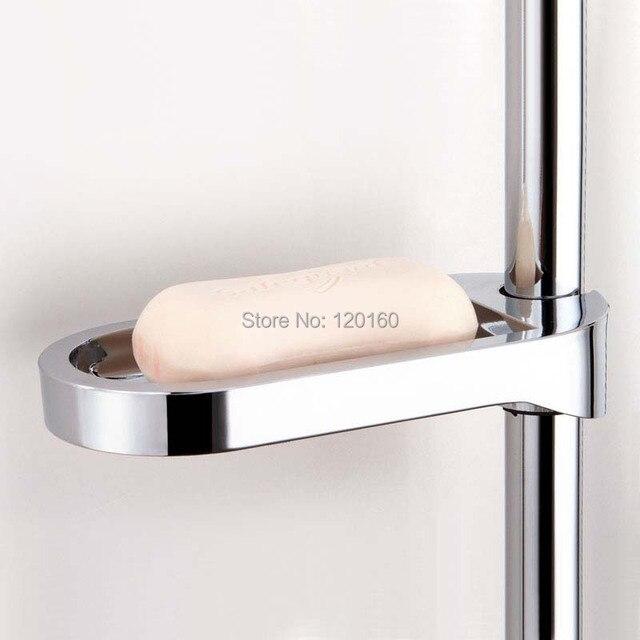 Plastic Shower Soap Box Holder Pallet Rod Sliding Bar Abs Chrome