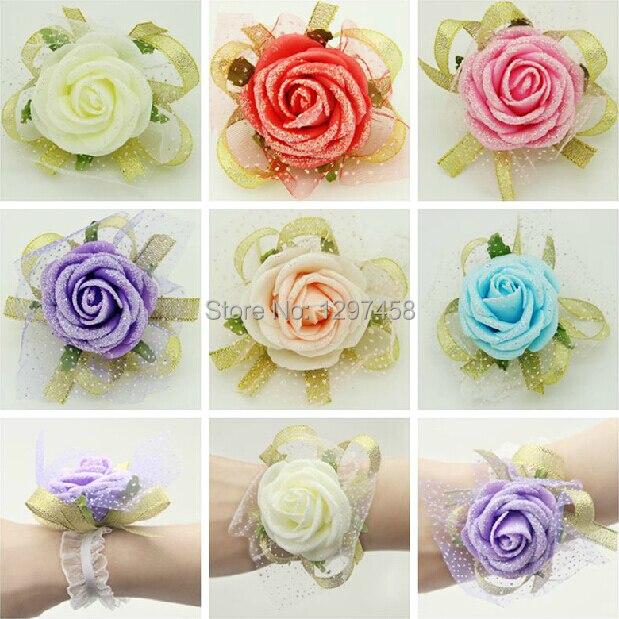 Korean Wedding Flowers: Wedding Supplies Korean Bridesmaid Hand Flowers Wrist