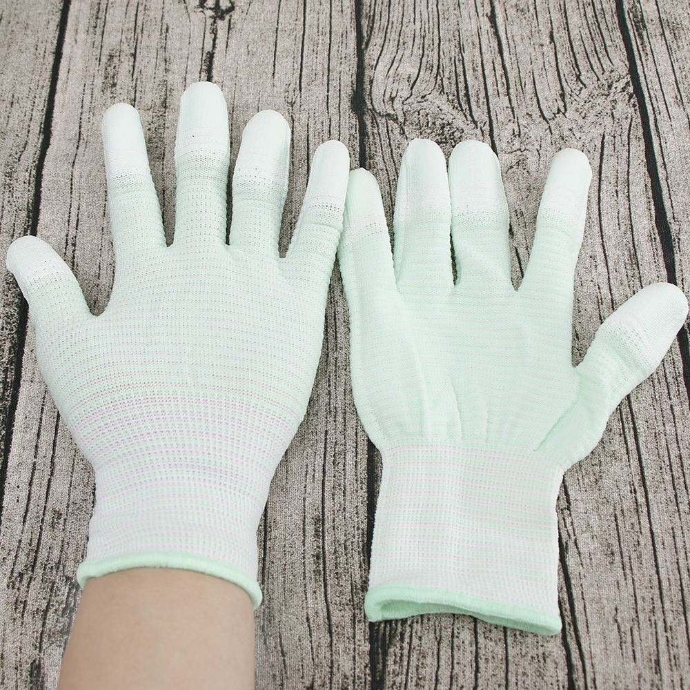 Finger-Gloves Motion-Machine Sewing 1pair Nylon for Quilting Beautiful Mint-Green New-Style title=