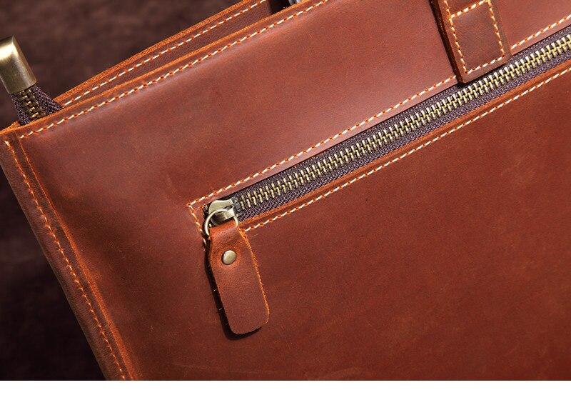 HTB1ncnDABmWBuNkSndVq6AsApXak Genuine Leather Men's Handbags Crazy Horse Leather Man Retro Tote Bag Shoulder Messenger Bag Business Men Briefcase Laptop Bag