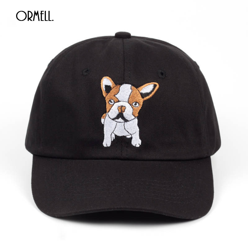 Ormell Ladies Cute Embroidery Dog Baseball Cap Women Casual Outdoor Sport Animal Puppy Casquette Caps Wholesal Summer Hat Apparel Accessories