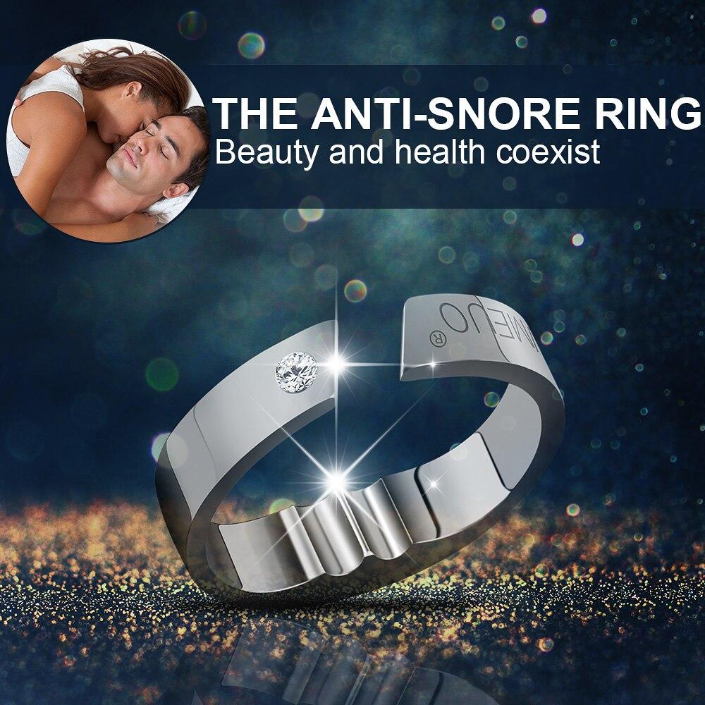 4 tamaños acupresión Anti ronquidos anillo tratamiento Natural contra ronquidos solución Anti ronquidos dispositivo Apnea ayuda para dormir