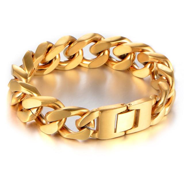 David Kabel Mens Chain Link Braceletstainless Steel Chain Bracelet