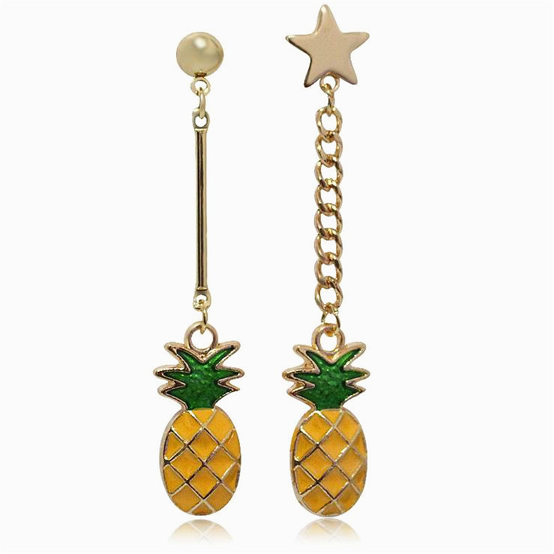Ab Design Pineapple Long Earrings Simple Personality Sstar Eearring Fashion Jewelry For  ...