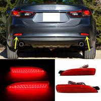For Mazda 6 Atenza 2013 2016 Red Rear Bumper Reflector Tail Brake Fog Lights