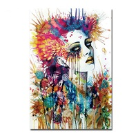 Magic Girl Decorative Pictures Abstract Siren Women Wall Art Painting 1Pc Unframed Cuadros Decoracion Infantiles Christmas