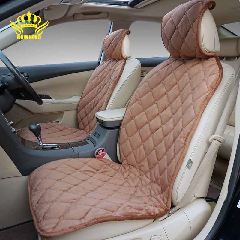 ROWNFUR Universal Car Seat Covers For Auto 95 Vehicles Front Back Rear Seat Car Seat Cushion
